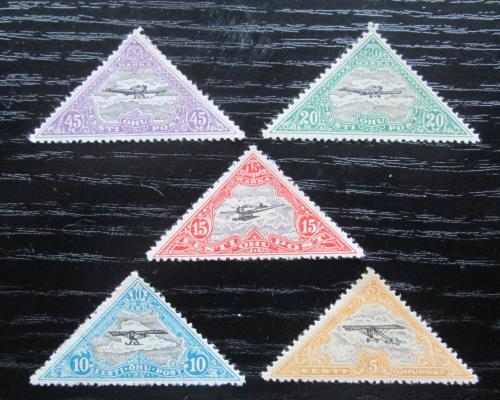 Poštovní známky Estonsko 1924 Letadla Mi# 48-52 Kat 15€