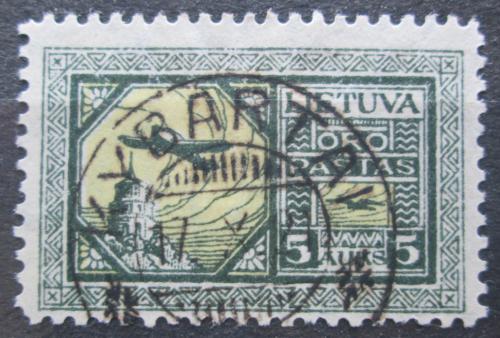 Poštovní známka Litva 1921 Letadlo Junkers F-13 Mi# 108 X