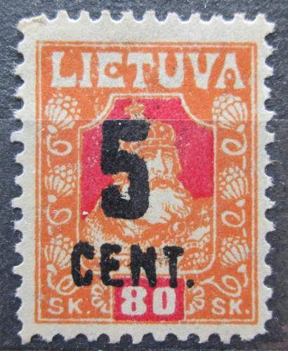 Poštovní známka Litva 1922 Kníže Kestutis pøetisk Mi# 164