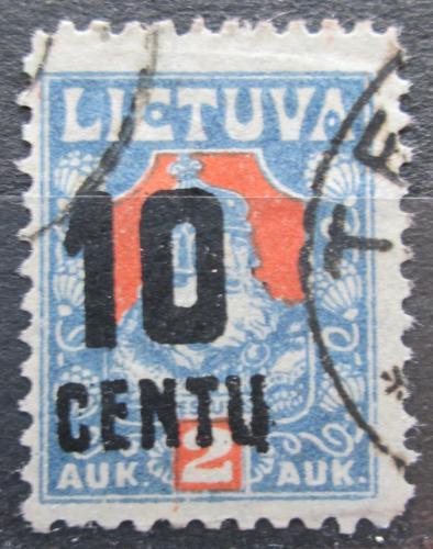 Poštovní známka Litva 1922 Kníže Kestutis pøetisk Mi# 168 X
