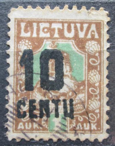 Poštovní známka Litva 1922 Kníže Kestutis pøetisk Mi# 167