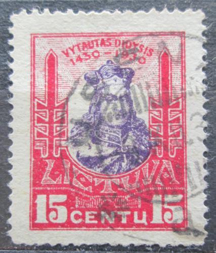 Poštovní známka Litva 1930 Kníže Vytautas Mi# 297
