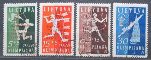 Poštovní známky Litva 1938 Sport TOP SET Mi# 421-24 Kat 60€