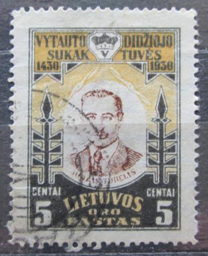 Poštovní známka Litva 1930 Juozas Tubelis, politik Mi# 307