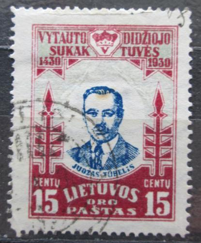 Poštovní známka Litva 1930 Juozas Tubelis, politik Mi# 309