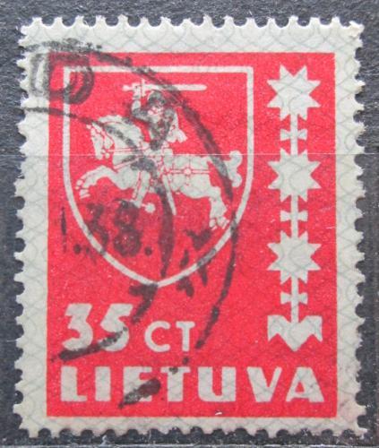 Poštovní známka Litva 1937 Státní znak Mi# 415