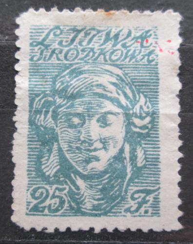 Poštovní známka Støední Litva 1920 Hlava ženy Mi# 14 A