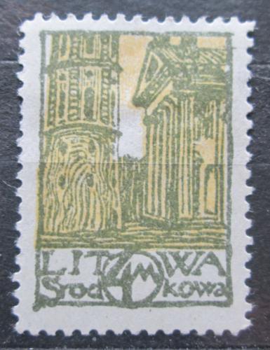 Poštovní známka Støední Litva 1920 Vìž katedrály sv. Stanislava Mi# 17 A
