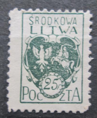 Poštovní známka Støední Litva 1921 Státní znak Mi# 20 A