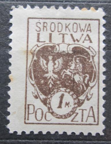 Poštovní známka Støední Litva 1921 Státní znak Mi# 21 A