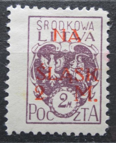 Poštovní známka Støední Litva 1921 Státní znak pøetisk Mi# 25 A