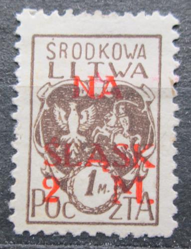 Poštovní známka Støední Litva 1921 Státní znak pøetisk Mi# 27 A