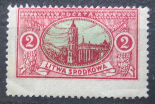 Poštovní známka Støední Litva 1921 Katedrála sv. Stanislava ve Vilniusu Mi# 35 A
