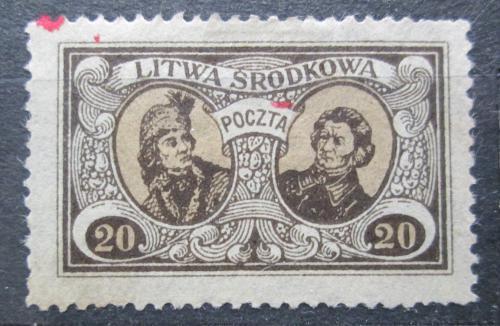 Poštovní známka Støední Litva 1921 Osobnosti Mi# 41 A