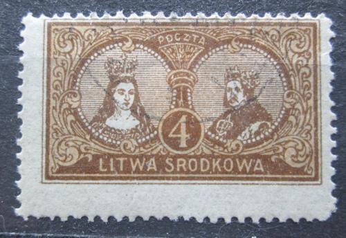 Poštovní známka Støední Litva 1921 Osobnosti Mi# 37 A
