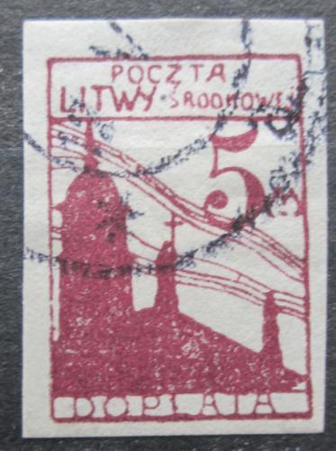 Poštovní známka Støední Litva 1921 Katedrála sv. Stanislava, doplatní Mi# 5 B