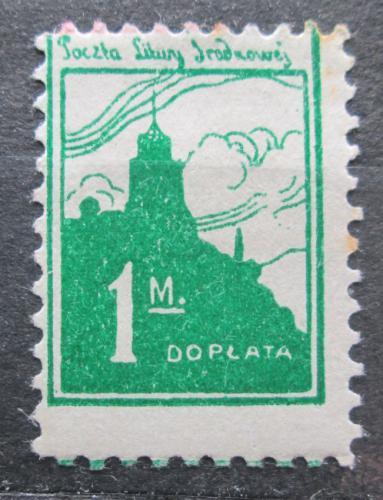Poštovní známka Støední Litva 1921 Zámek ve Vilniusu, doplatní Mi# 2 A