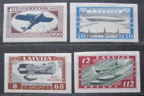 Poštovní známky Lotyšsko 1933 Letectví neperf. RARITA Mi# 228-31 B Kat 250€