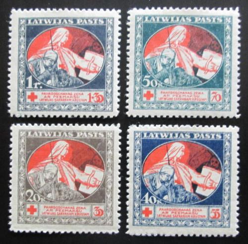 Poštovní známky Lotyšsko 1920 Èervený køíž Mi# 51-54 y
