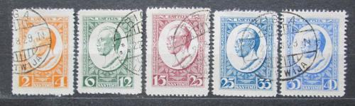 Poštovní známky Lotyšsko 1929 Zigfrids Anna Meierovics Mi# 144-48 A Kat 25€