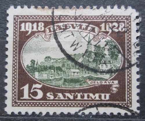 Poštovní známka Lotyšsko 1928 Kostel v Jelgavì Mi# 133