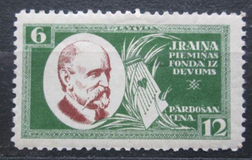 Poštovní známka Lotyšsko 1930 Janis Rainis, básník a politik Mi# 156