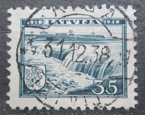 Poštovní známka Lotyšsko 1938 Vodopády Mi# 269
