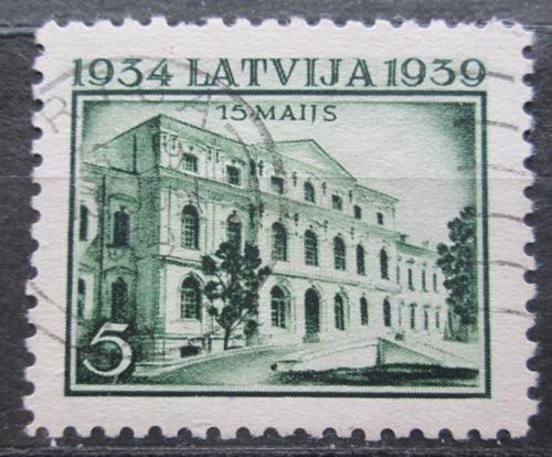 Poštovní známka Lotyšsko 1939 Zámek v Jelgavì Mi# 272