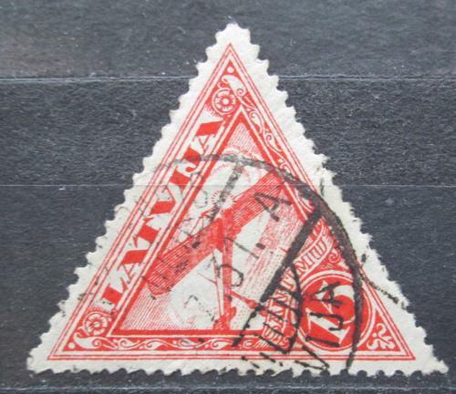 Poštovní známka Lotyšsko 1931 Letadlo nad Rigou Mi# 178 A