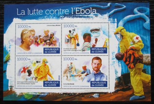 Poštovní známky Guinea 2015 Boj proti ebole Mi# 11258-61 Kat 16€