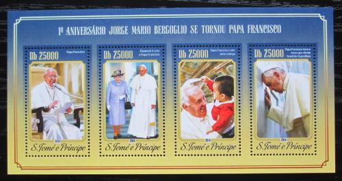 Poštovní známky Svatý Tomáš 2014 Papež František Mi# 5955-58 Kat 10€