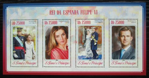 Poštovní známky Svatý Tomáš 2014 Španìlský královský pár Mi# 5875-78 Kat 10€