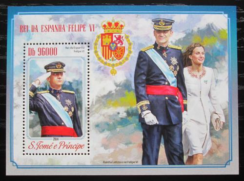 Poštovní známka Svatý Tomáš 2014 Španìlský královský pár Mi# Block 1031 Kat 10€