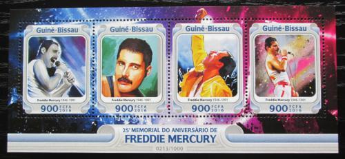 Poštovní známky Guinea-Bissau 2016 Freddie Mercury, Queen Mi# 8519-22 Kat 13.50€