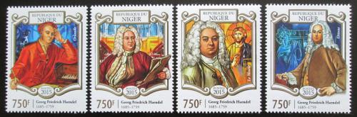 Poštovní známky Niger 2015 Georg Friedrich Händel, skladatel Mi# 3320-23 Kat 12€