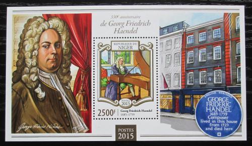 Poštovní známka Niger 2015 Georg Friedrich Händel Mi# Block 408 Kat 10€