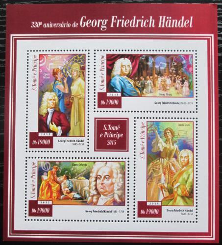 Poštovní známky Svatý Tomáš 2015 Georg Friedrich Händel Mi# 5990-93 Kat 7.50€