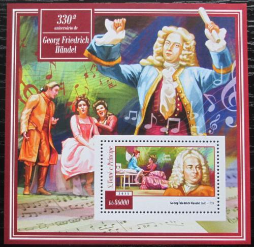Poštovní známka Svatý Tomáš 2015 Georg Friedrich Händel Mi# Block 1053 Kat 8.50€