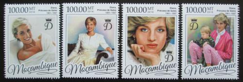 Poštovní známky Mosambik 2016 Princezna Diana Mi# 8694-97 Kat 22€