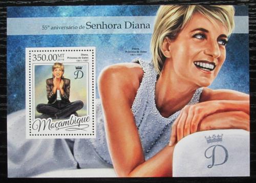 Poštovní známka Mosambik 2016 Princezna Diana Mi# Block 1179 Kat 20€