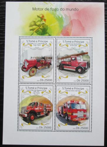 Poštovní známky Svatý Tomáš 2014 Hasièská auta Mi# 5629-32 Kat 10€