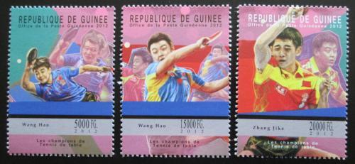 Poštovní známky Guinea 2012 Stolní tenis Mi# 9312-14 Kat 16€