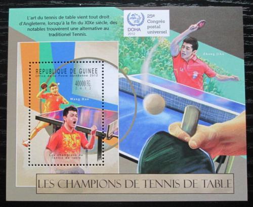 Poštovní známka Guinea 2012 Stolní tenis Mi# Block 2117 Kat 16€