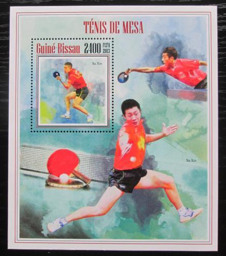Poštovní známka Guinea-Bissau 2013 Stolní tenis Mi# Block 1232 Kat 10€