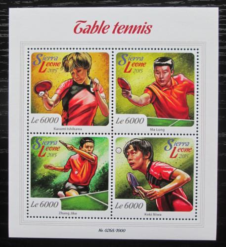Poštovní známky Sierra Leone 2015 Stolní tenis Mi# 6723-26 Kat 11€