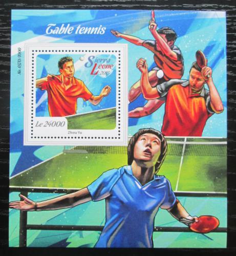 Poštovní známka Sierra Leone 2015 Stolní tenis Mi# Block 877 Kat 11€