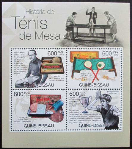 Poštovní známky Guinea-Bissau 2012 Stolní tenis Mi# 5872-75 Kat 9.50€