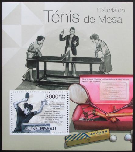 Poštovní známka Guinea-Bissau 2012 Stolní tenis Mi# Block 1037 Kat 12€
