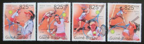 Poštovní známky Guinea-Bissau 2011 Tenis, Roland-Garros Mi# 5450-53 Kat 13€