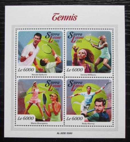 Poštovní známky Sierra Leone 2015 Slavní tenisti Mi# 6718-21 Kat 11€